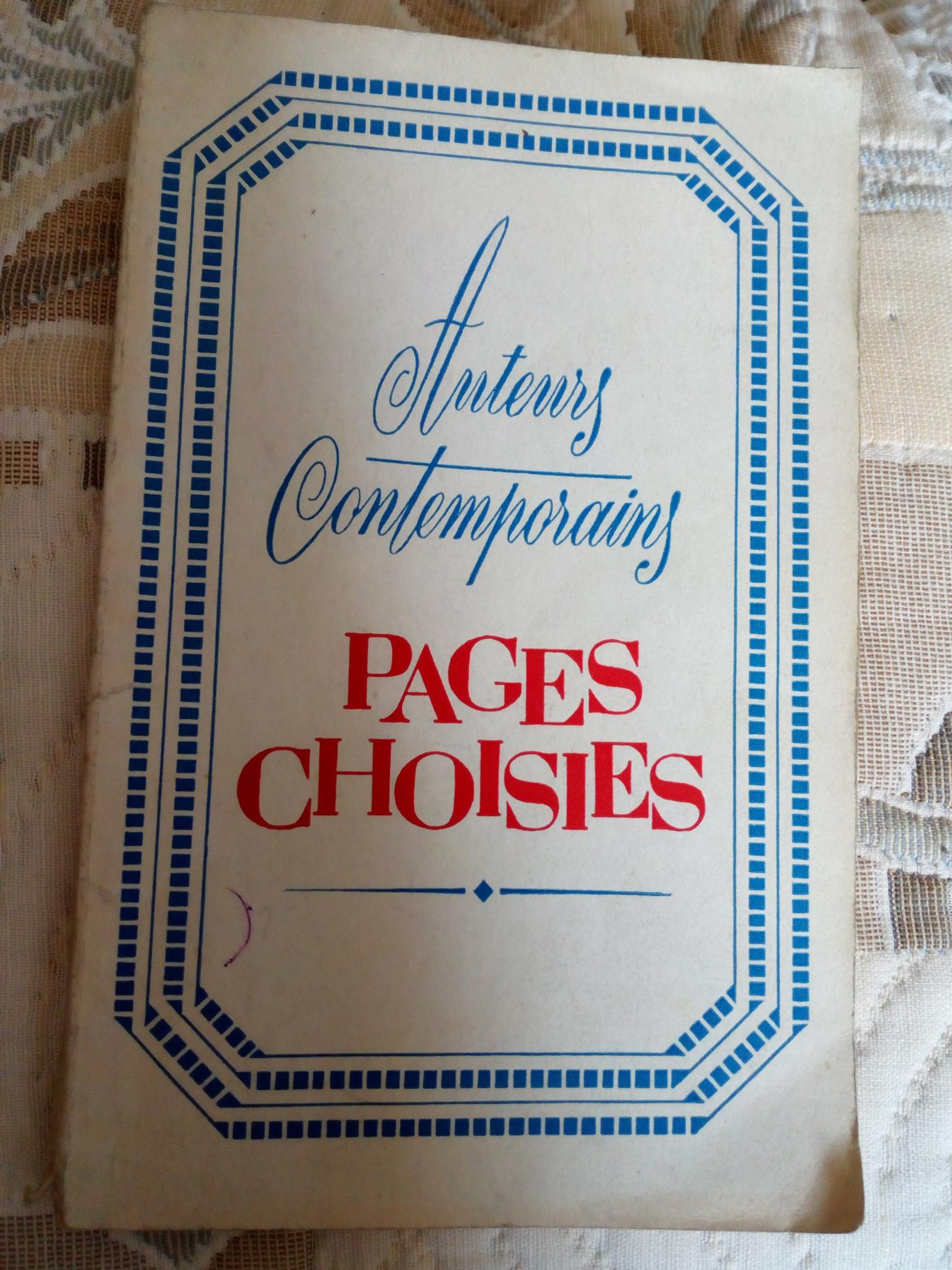 Pages choisies,
