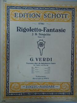Edition Schott. 07961. Rigoletto-Fantasie,