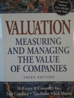 Valuation: Measuring and Managing the Value of Companies.  3rd Edition, McKinsey & Company Inc.