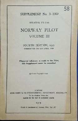 Suplement No. 3-1959 Relating to the Norway Pilot. Volume 3, ---