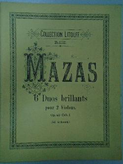 Mazas. 6 Duos brillants,
