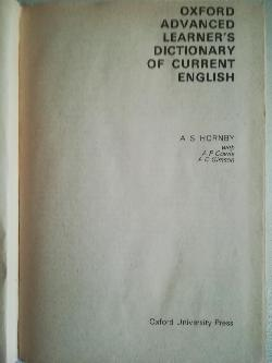 Oxford advanced learner's dictionary of current english- Оксфордски английски речник, A. S. Hornby, A. P. Cowie, A. C. Gimson