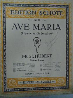 Edition Schott. 02542. Ave Maria,